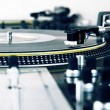 Turntable playing vinyl music record — Stock Photo #4679852