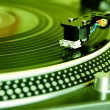 Turntable playing vinyl record — Stock Photo #4723875