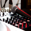 Vocal microphone on sound mixer — Stock Photo #4724053
