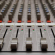 Studio sound mixer details - Stock Photo