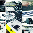 Постер, плакат: Collage of a DJ equipment