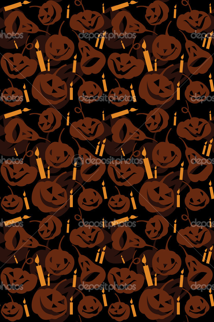 Halloween seamless background with pumpkins — Stock Vector #4091636