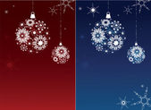 Two Christmas backgrounds. — Stock Vector