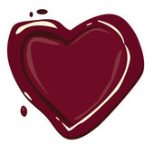 Heart with blood droplet — Stock Vector