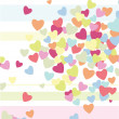 Stock Vector: Hearts on background