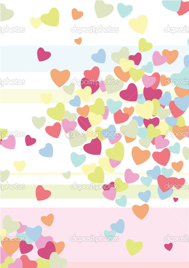 Hearts. Valentine's background — Image vectorielle #4704496