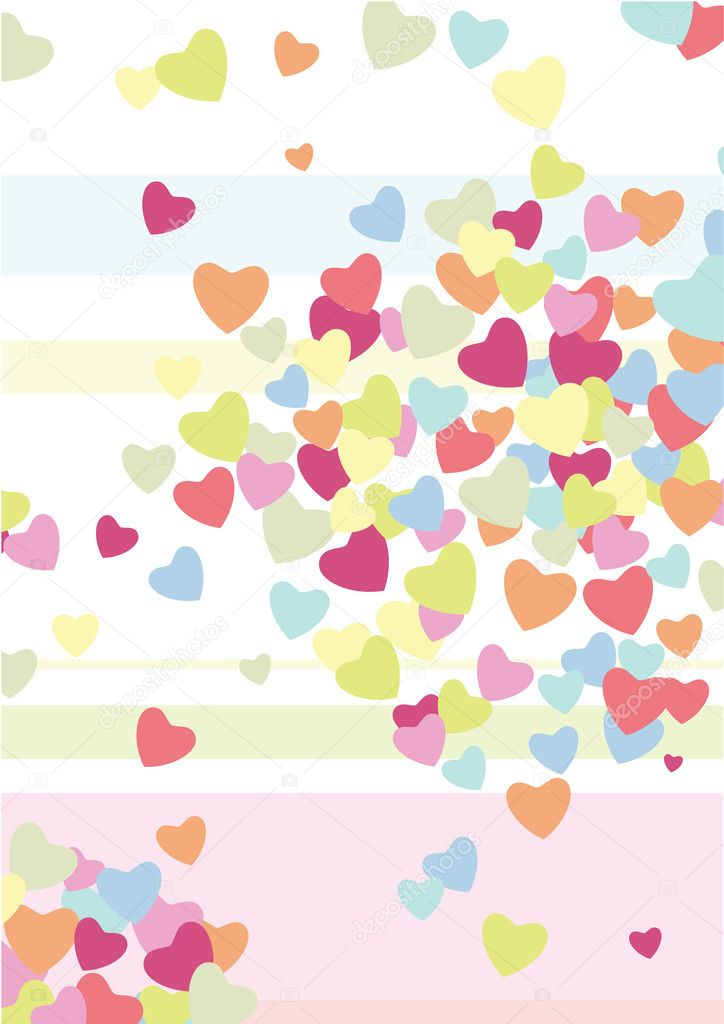 Hearts. Valentine's background — Stock vektor #4704496