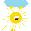 Stock Vector: Cartoon sun