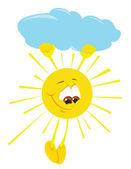 漫画の太陽 — ストックベクタ