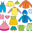 Royalty-Free Stock Vector Image: Children\'s Clothing