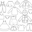 Children's Clothing — Stock Vector