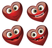 Set of fun hearts — Stock Vector