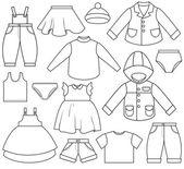 Children's Clothing — Stock Vector