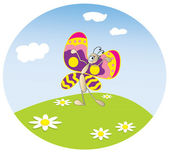 Butterfly on the meadow — Stock Vector