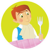Diner Boy — Stock Vector