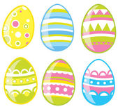 Easter eggs set — Vettoriale Stock