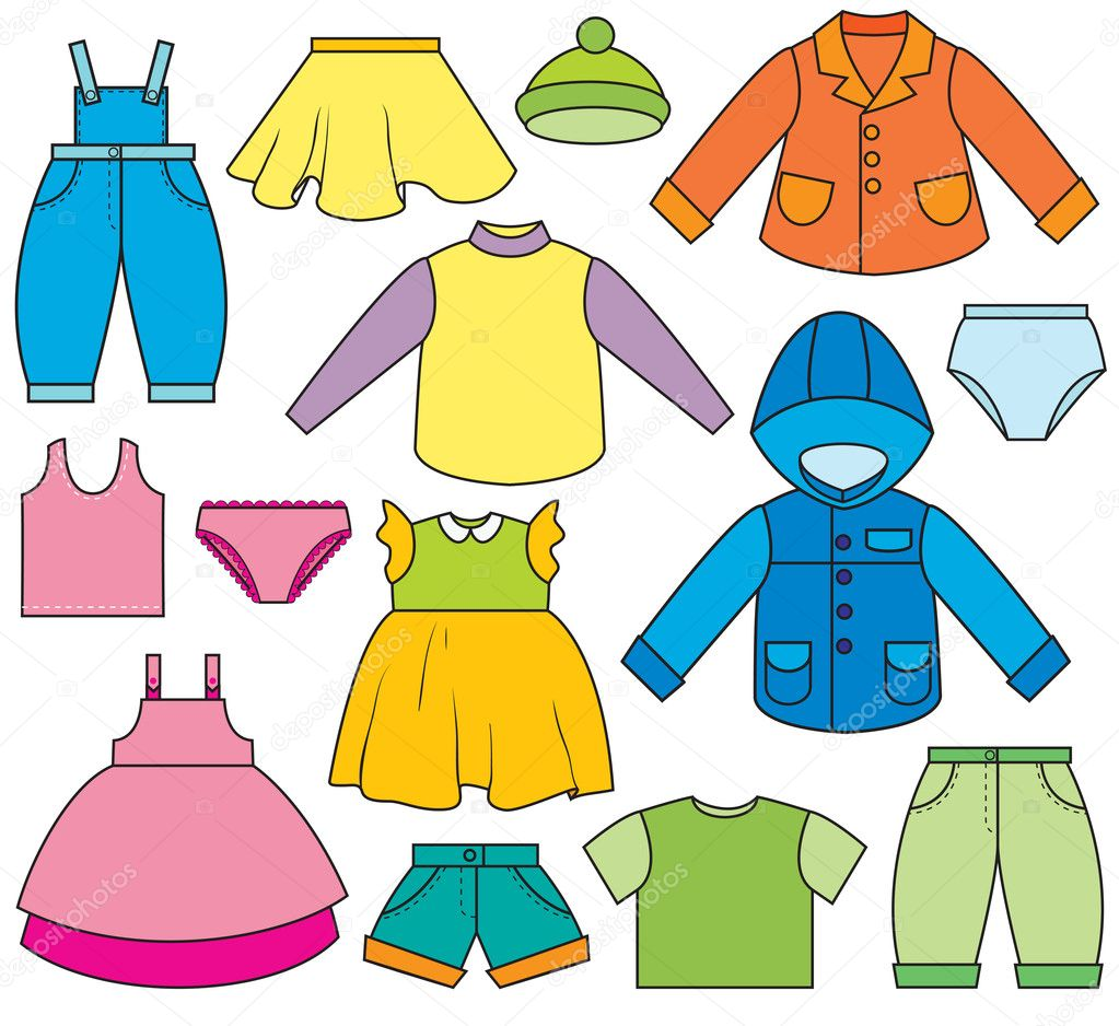 Children s clothing stock illustration
