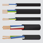 Electric copper cable — Stockvektor