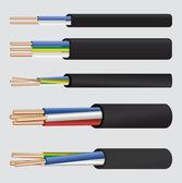 Elektryczny kabel z miedzi — Wektor stockowy