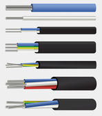 Electric aluminium cable — Vettoriale Stock