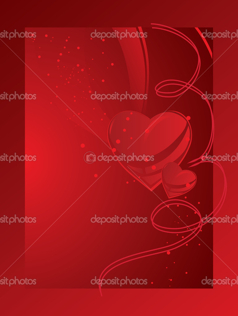 Red card with heart. Valentine's day — Stock Vector #5311939