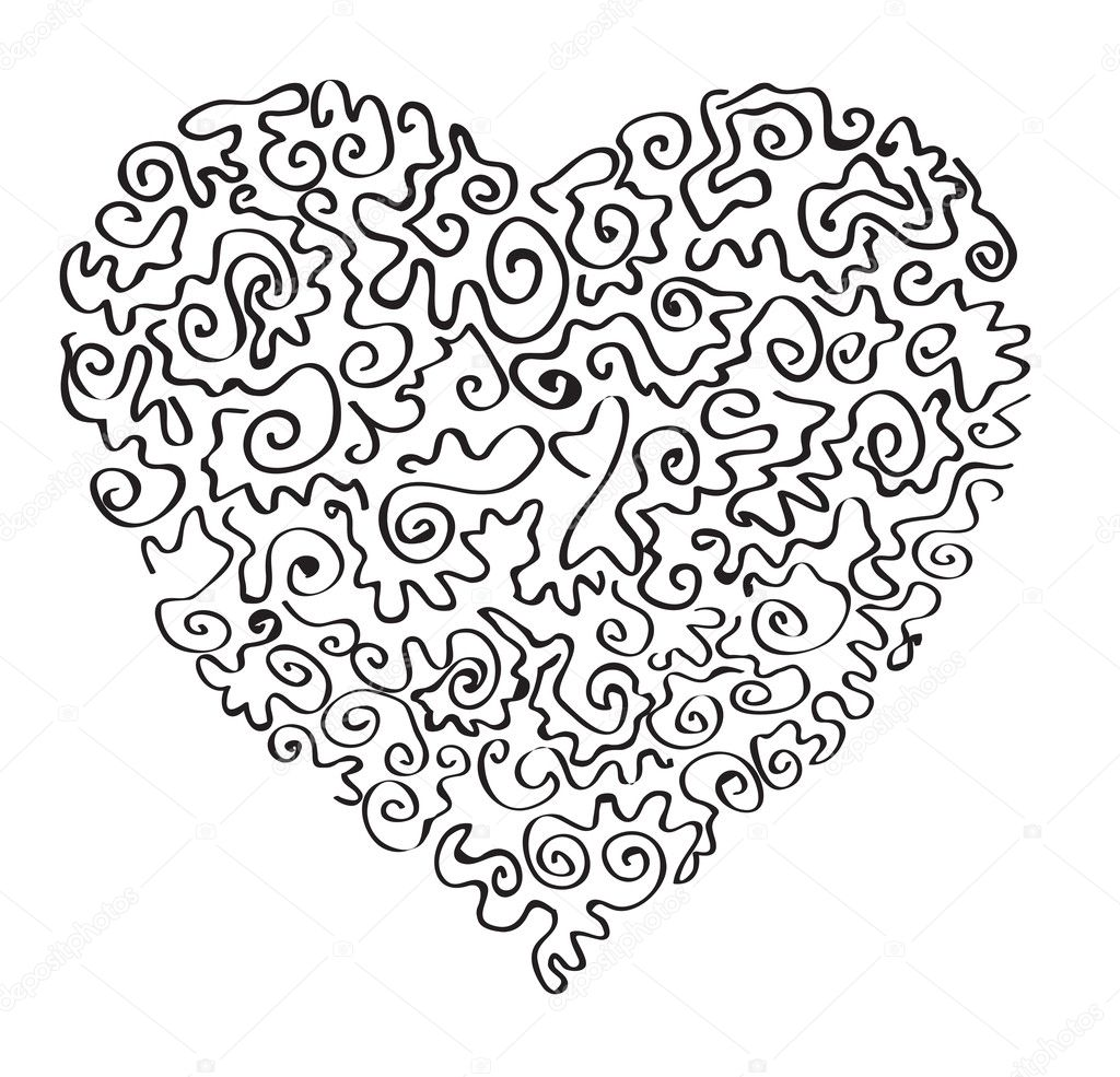 Abstract heart. Vector image — Stock Vector #5311940