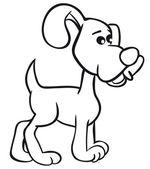 διασκέδαση περίγραμμα σκυλί — Διανυσματικό Αρχείο
