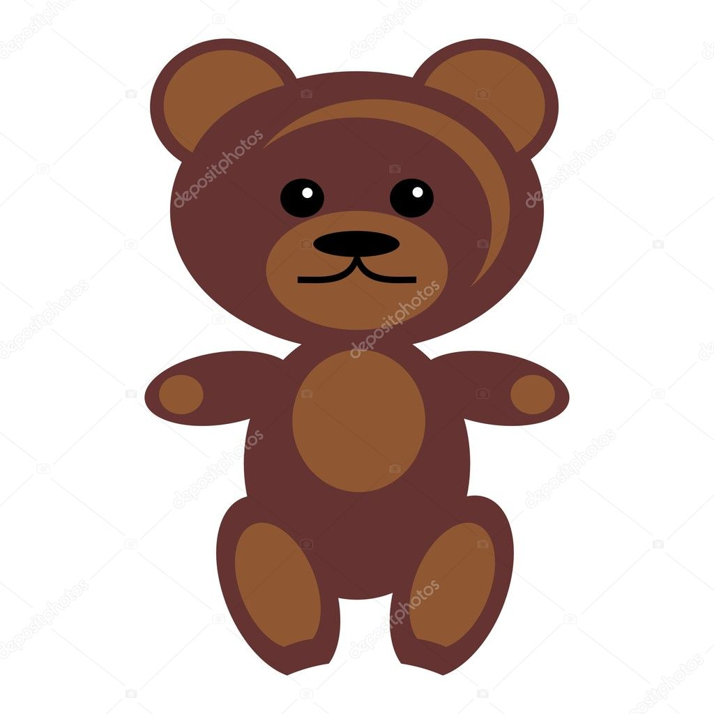 Nice teddy bear on white background — Stock Vector #3942780