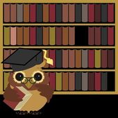 Nice owl with books — Stock Vector