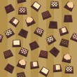Royalty-Free Stock Imagen vectorial: Seamless background with chocolate candies
