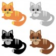 Royalty-Free Stock Vector Image: Four nice cats on white