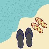 Dva páry na sandály — Stock vektor