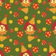 Seamless background with clowns — Imagen vectorial