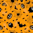 Stock Vector: Halloween orange seamless