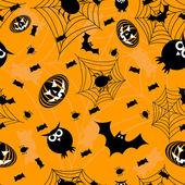 Orange halloween sans soudure — Vecteur