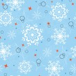 Royalty-Free Stock Vector Image: Blue snowflakes seamless
