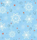 Blue snowflakes seamless — Stock Vector
