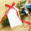 Blank gift tag — Stock Photo #4254711