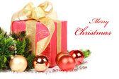 Jul eller nyår gåva — Stockfoto