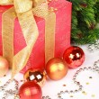 Christmas or new year's gift — Stock Photo