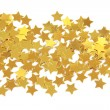 Golden stars isolated - Stock Photo