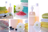 Collage items for spa — Stock Photo