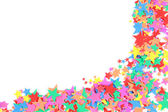 A lot of color stars — Stock Photo