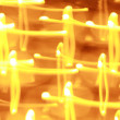 Abstract background of candlelights for Christmas — Stock Photo