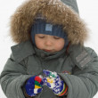 Little boy in winter clothes — Stock Photo