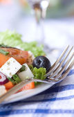 Healthy greek salad — Stock Photo