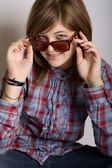 Attractive teenager girl — Stock Photo