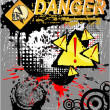 Skull Symbol danger — Vector de stock