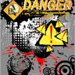 symbole danger de crâne — Vecteur