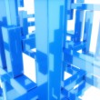 Abstract blue structure — Stock Photo